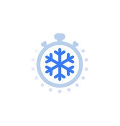 Freezing time icon on white vector