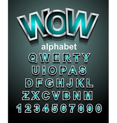 Funny Colorful Alphapet Font to use for childrens vector image