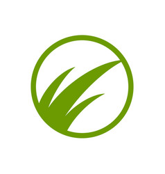 green grass simple abstract symbol design vector image