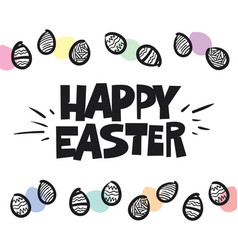 Happy easter premium handdrawn lettering vector