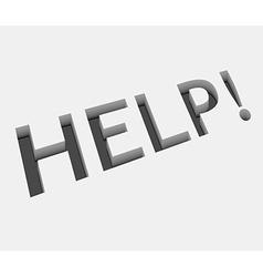 Help text design vector