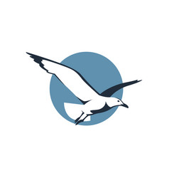 Icon with seagull vector