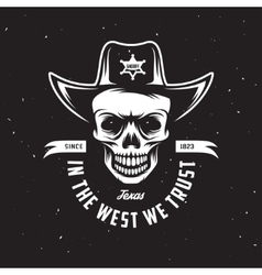 In the west we trust t-shirt design vector