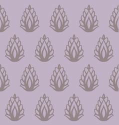indian leaf shapes seamless pattern vector image