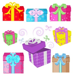 Interesting gifts vector