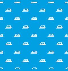 iron pattern seamless blue vector image