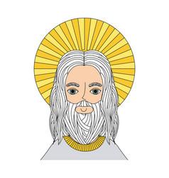 Jesuschrist man icon vector