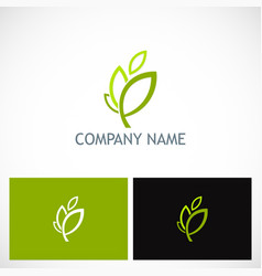 leaf nature ecology logo vector image