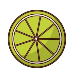 Lemon citrus fruit icon vector