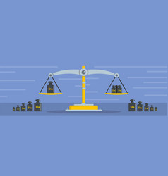 libra banner flat style vector image