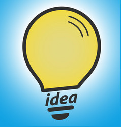 light bulb on blue background concept of vector image