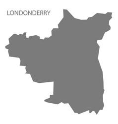 londonderry northern ireland map grey vector image