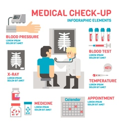 Medical sheckup infographic flat design vector