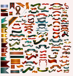 Mega collection of ribbons and banners vector