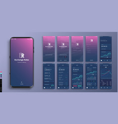 mobile app design ui ux a set graphic vector image