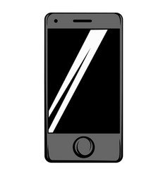 modern smartphone icon cartoon vector image