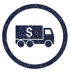 Money delivery rounded grainy icon vector