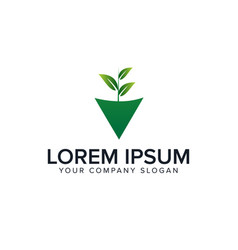 natural leaf logo gardening design concept vector image