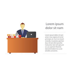 office worker flat character design vector image