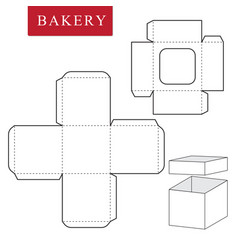 Package template for bakery food or other items vector