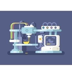 Printing device flat design vector image