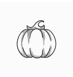 Pumpkin sketch icon vector image