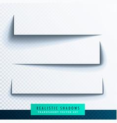 Realistic transparent shadow effect set vector