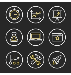 Set of engine optimisation icons vector image