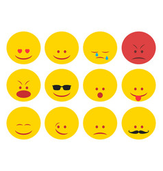 smiley faces group vector image