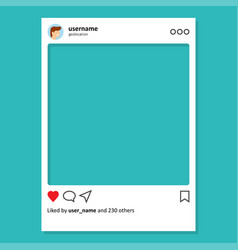 social network post frame vector image