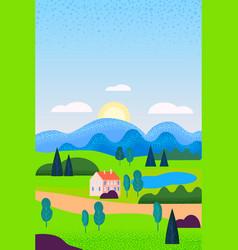 Spring landscape may month season banner vector