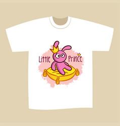 T-shirt print design little prince vector