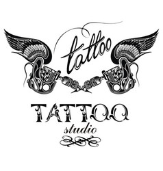 tattoo studio vector image