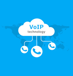 voip icon internet call concept connection vector image