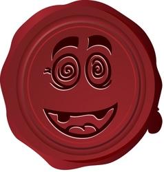 Wax seal Smiley 16 vector