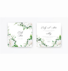 wedding invite invitation save date card floral vector image