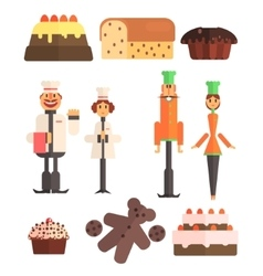 Bakery And Bakers Set vector image