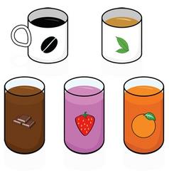 breakfast beverages vector image vector image