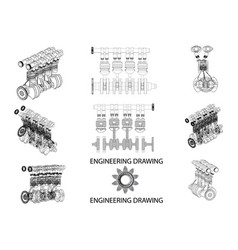 drawing of a motor vector image