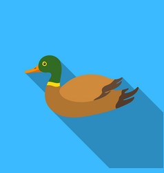 duck icon in flat style isolated on white vector image