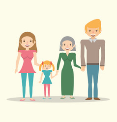 family couple grandma and daughter vector image