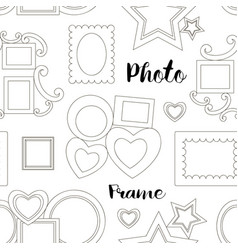 photoframe set pattern vector image vector image