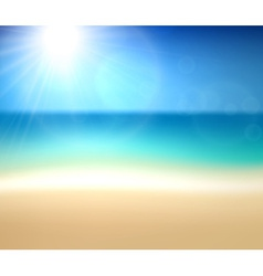 Tropical sunny summer coast vector image vector image