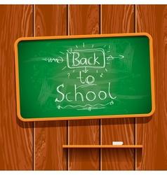 Back to school chalkwriting on blackboard vector image