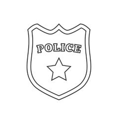 Police badge line icon vector image