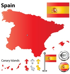 Spanish flag small vector image vector image