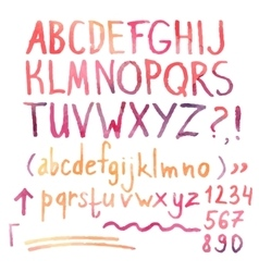 alphabet and numbers vector image