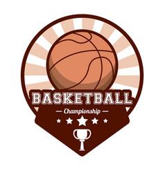 basketball sport championship stamp image vector image vector image