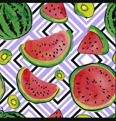 Fruit watercolor pattern vector