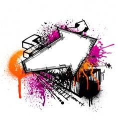 graffiti arrow background vector image vector image